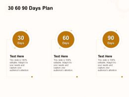 30 60 90 Days Plan A1055 Ppt Powerpoint Presentation Model Design Templates
