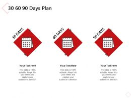 30 60 90 Days Plan A1076 Ppt Powerpoint Presentation Guidelines