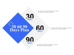 30 60 90 Days Plan A1124 Ppt Powerpoint Presentation Guide