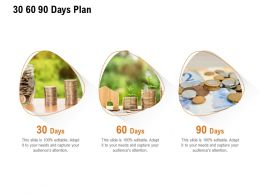30 60 90 Days Plan A1135 Ppt Powerpoint Presentation Gallery Templates
