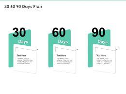 30 60 90 Days Plan A1139 Ppt Powerpoint Presentation Portfolio Outfit