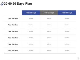 30 60 90 Days Plan A387 Ppt Powerpoint Presentation Infographics Shapes