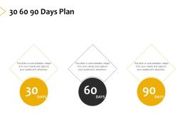 30 60 90 Days Plan A399 Ppt Powerpoint Presentation Ideas Templates