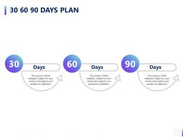 30 60 90 Days Plan A788 Ppt Powerpoint Presentation Slides Example Topics