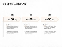 30 60 90 Days Plan A796 Ppt Powerpoint Presentation Pictures Clipart Images