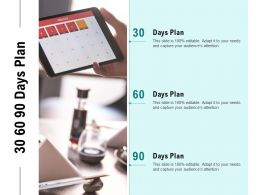 30 60 90 Days Plan A800 Ppt Powerpoint Presentation Pictures Demonstration