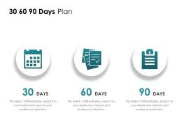 30 60 90 Days Plan A813 Ppt Powerpoint Presentation File Display