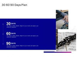 30 60 90 Days Plan A848 Ppt Powerpoint Presentation Inspiration