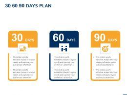 30 60 90 Days Plan A859 Ppt Powerpoint Presentation Summary Aids