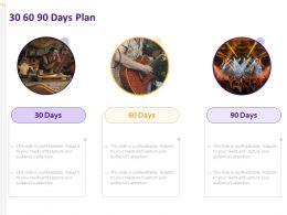 30 60 90 Days Plan A862 Ppt Powerpoint Presentation File Deck