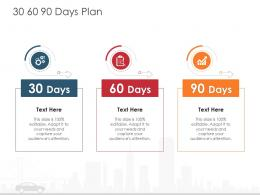 30 60 90 Days Plan Automobile Company Ppt Diagrams