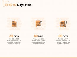 30 60 90 Days Plan Business A876 Ppt Powerpoint Presentation Professional Samples