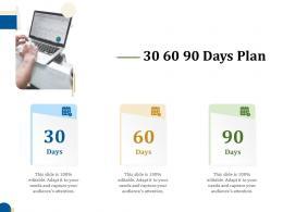30 60 90 Days Plan Business Turnaround Plan Ppt Background