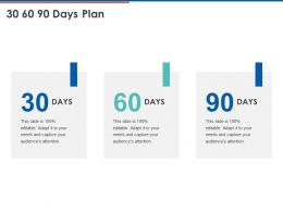 30 60 90 Days Plan C1082 Ppt Powerpoint Presentation Ideas Portfolio