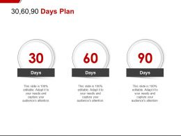 30 60 90 Days Plan C1119 Ppt Powerpoint Presentation Summary Graphics
