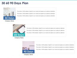 30 60 90 Days Plan C1135 Ppt Powerpoint Presentation Infographics Show