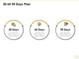 30 60 90 Days Plan C1137 Ppt Powerpoint Presentation Styles Graphics Design