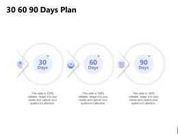 30 60 90 Days Plan C1218 Ppt Powerpoint Presentation Icon Diagrams