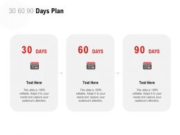 30 60 90 Days Plan C1231 Ppt Powerpoint Presentation Gallery Design Templates