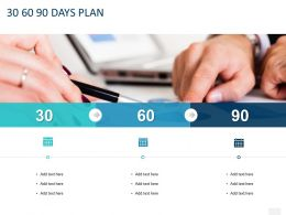 30 60 90 Days Plan C1307 Ppt Powerpoint Presentation Professional Infographic Template