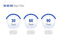 30 60 90 Days Plan C1317 Ppt Powerpoint Presentation File Format Ideas
