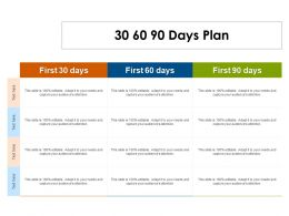 30 60 90 Days Plan C1404 Ppt Powerpoint Presentation File Graphics Download