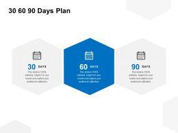 30 60 90 Days Plan Calendar C1044 Ppt Powerpoint Presentation File Gallery