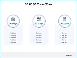 30 60 90 Days Plan Checklist C1059 Ppt Powerpoint Presentation Gallery Display
