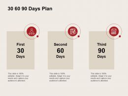 30 60 90 Days Plan Checklist C925 Ppt Powerpoint Presentation File Icons