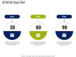 30 60 90 Days Plan Commercial Real Estate Property Management Ppt Example