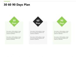 30 60 90 Days Plan F824 Ppt Powerpoint Presentation Pictures Gallery