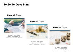 30 60 90 Days Plan Financial J201 Ppt Powerpoint Presentation Diagram Ppt