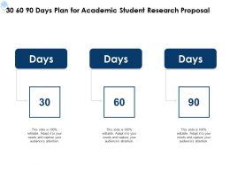 30 60 90 Days Plan For Academic Student Research Proposal Ppt Powerpoint Gallery