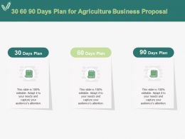 30 60 90 Days Plan For Agriculture Business Proposal Ppt Powerpoint Presentation Layouts