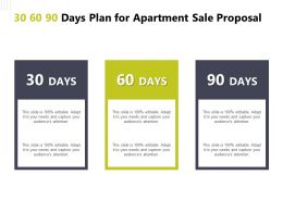 30 60 90 Days Plan For Apartment Sale Proposal F896 Ppt Powerpoint Presentation Files