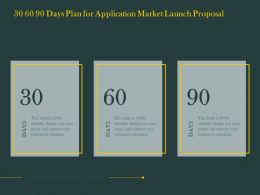 30 60 90 Days Plan For Application Market Launch Proposal Ppt Powerpoint Maker