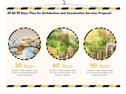 30 60 90 Days Plan For Architecture And Construction Services Proposal Ppt Powerpoint Layouts