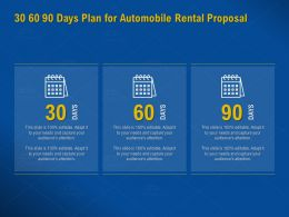 30 60 90 Days Plan For Automobile Rental Proposal Editable Ppt Powerpoint Presentation Example