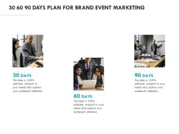 30 60 90 Days Plan For Brand Event Marketing Ppt Powerpoint Presentation Outline Icons