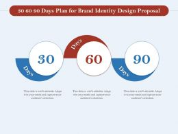 30 60 90 Days Plan For Brand Identity Design Proposal Ppt Powerpoint Portfolio Picture