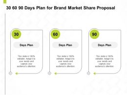 30 60 90 Days Plan For Brand Market Share Proposal Ppt Powerpoint Presentation Styles