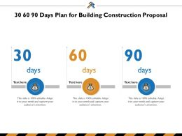 30 60 90 Days Plan For Building Construction Proposal Ppt Powerpoint Presentation Layouts