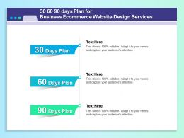 30 60 90 Days Plan For Business Ecommerce Website Design Services Ppt Template