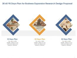 30 60 90 Days Plan For Business Expansion Research Design Proposal Ppt Clipart
