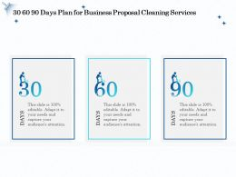 30 60 90 Days Plan For Business Proposal Cleaning Services Ppt File Topics