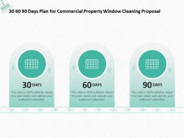 30 60 90 Days Plan For Commercial Property Window Cleaning Proposal Ppt Slides