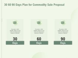 30 60 90 Days Plan For Commodity Sale Proposal Ppt Powerpoint Presentation Gallery