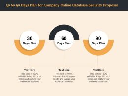 30 60 90 Days Plan For Company Online Database Security Proposal Ppt File Display
