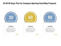 30 60 90 Days Plan For Company Opening Road Map Proposal Ppt Powerpoint Presentation Infographic
