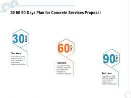 30 60 90 Days Plan For Concrete Services Proposal Ppt Powerpoint Presentation File Portfolio